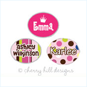 girls mini name labels