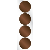 Chocolate Embosser Foil Seals by Three Designing Women
