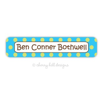 Confetti Aqua Waterproof Name Labels