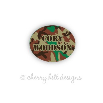Cool Camo Mini Waterproof Name Labels