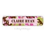 Cool Camo Pink Waterproof Name Labels