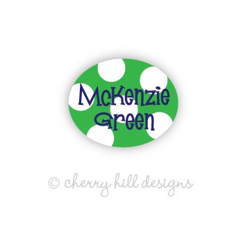 Sailor Green Mini Waterproof Name Labels