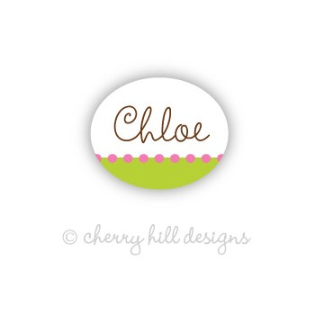 Confetti Lime Pink Mini Waterproof Name Labels
