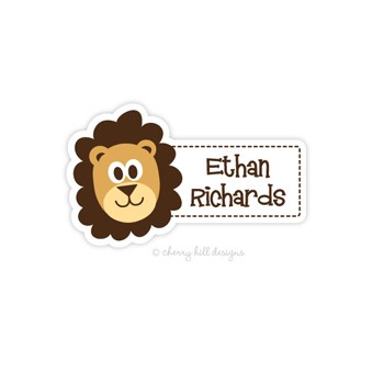Lion Diecut Waterproof Name Labels