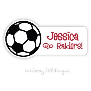 Soccer Ball Diecut Waterproof Name Labels