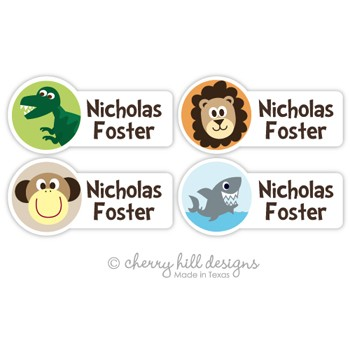 Wild Side Assorted Mini Diecut Waterproof Name Labels