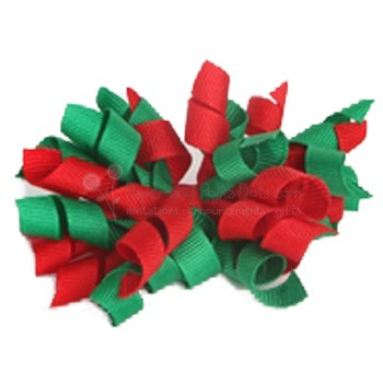"Korker Bow - Red and Green ""Christmas"""