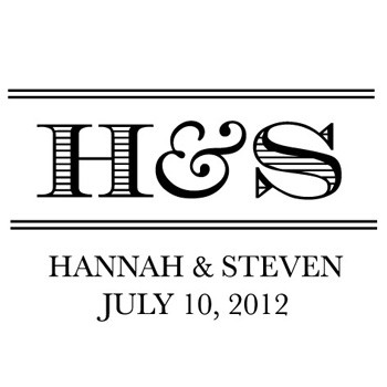 Custom Bridal Stamp CS3629 by Three Designing Women