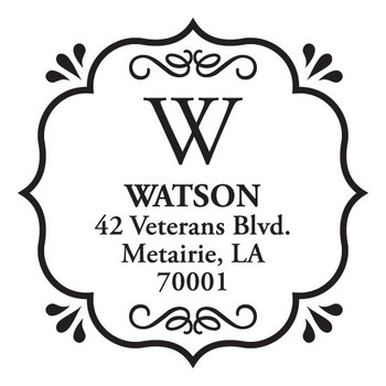 Custom Address Stamp CS3233 by Three Designing Women
