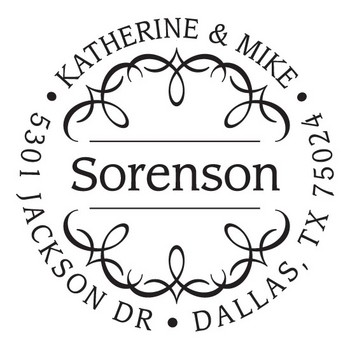 Custom Address Stamp CS3238 by Three Designing Women