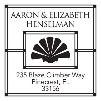 Custom Address Stamp CS3260 by Three Designing Women