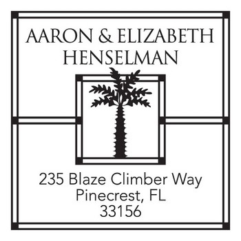 Custom Address Stamp CS3261 by Three Designing Women