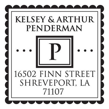 Custom Address Stamp CS3265 by Three Designing Women