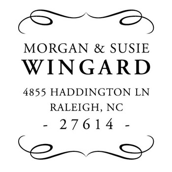 Custom Address Stamp CS3644 by Three Designing Women