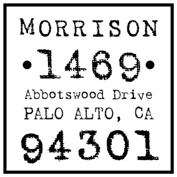 personalized return address stamps customized rubber stamp cs3659
