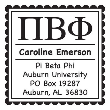 Custom Greek Stamp CS8001 Pi Beta Phi by Three Designing Women