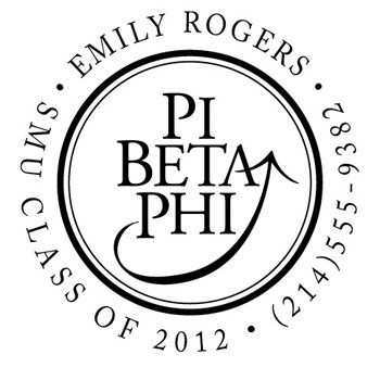 Custom Greek Stamp CS8002 Pi Beta Phi by Three Designing Women