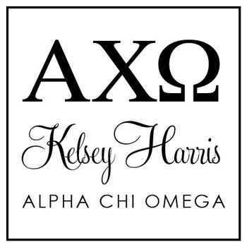 Custom Greek Stamp CS8003 Alpha Chi Omega by Three Designing Women