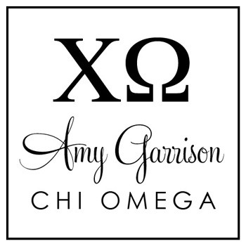 Custom Greek Stamp CS8003 Chi Omega by Three Designing Women