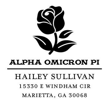 Custom Greek Stamp CS8004 Alpha Omicron Pi by Three Designing Women