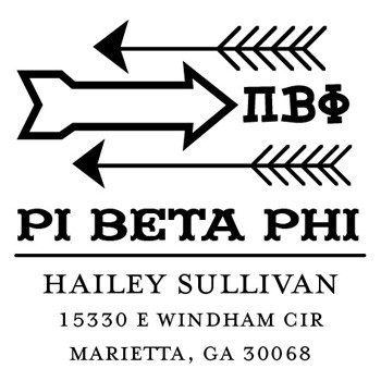 Custom Greek Stamp CS8004 Pi Beta Phi by Three Designing Women