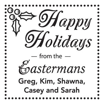Custom Holiday Stamp CS3506 by Three Designing Women