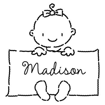 Custom Babies and Kids Stamp CS3668 by Three Designing Women