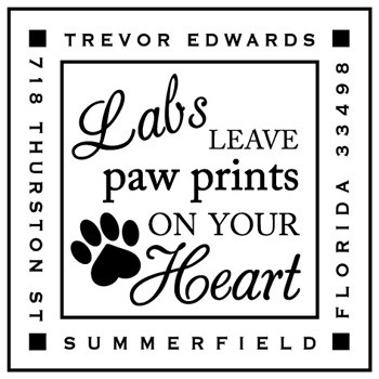Custom Pet Lover's Stamp CS3633 by Three Designing Women