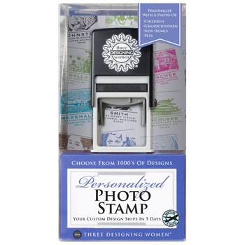 Personalized Photo Stamp Certificate Box Set by Three Designing Women