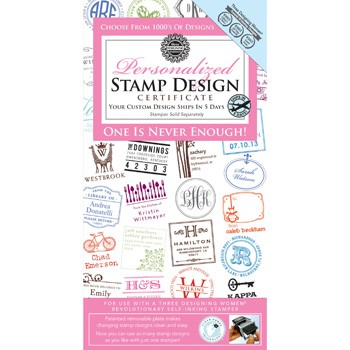 Personalized Stamp Design Polymer Certificate by Three Designing Women