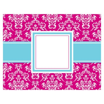 Toile Fucshai Foldover Notecards by Three Designing Women