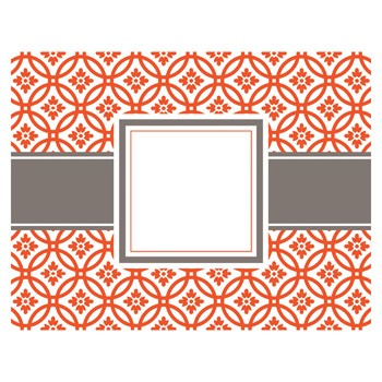 Kate Tangerine Foldover Notecards by Three Designing Women