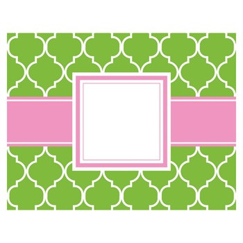 Madison Lime Foldover Notecards by Three Designing Women