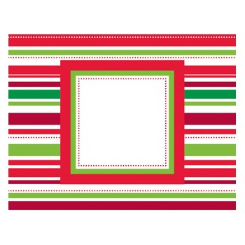 Candy Cane Foldover Notecards by Three Designing Women
