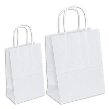 Large and Small White Gift Bags by Three Designing Women