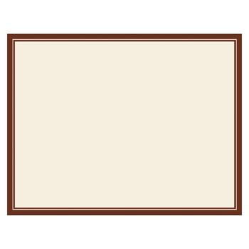 Cream Brown Panel Cards by Three Designing Women