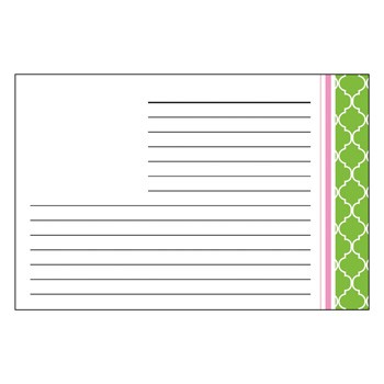 Madison Lime Recipe Cards by Three Designing Women