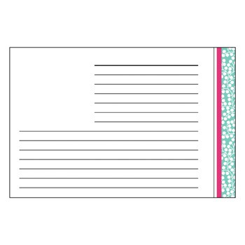 Wisteria Aqua Recipe Cards by Three Designing Women