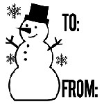 Snowman To From Mix and Match Stamp Design by Three Designing Women