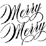 Swirl Merry Mix and Match Stamp Design by Three Designing Women