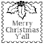 Merry Christmas Y'all Mix and Match Stamp Design by Three Designing Women