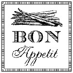 Bon Appetit Mix and Match Stamp Design by Three Designing Women
