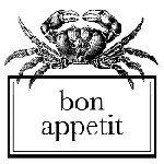 Crab Bon Appetit Mix and Match Stamp Design by Three Designing Women