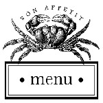 Crab Menu Mix and Match Stamp Design by Three Designing Women