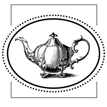 Teapot Mix and Match Stamp Design by Three Designing Women