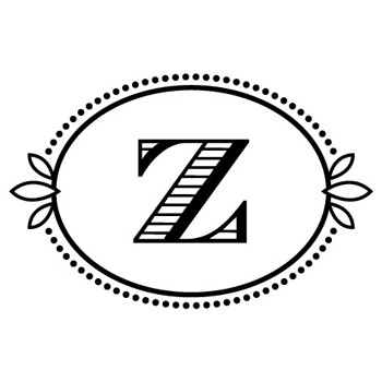 "Monogram Cash ""Z"" Mix and Match Stamp Design by Three Designing Women"