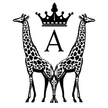 "Monogram Giraffes ""A"" Mix and Match Stamp Design by Three Designing Women"