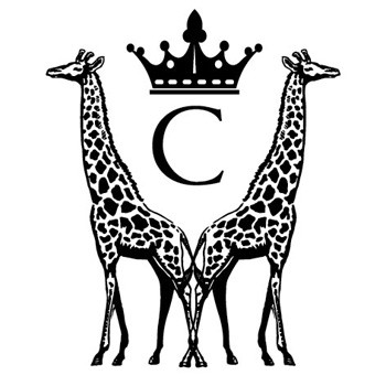 "Monogram Giraffes ""C"" Mix and Match Stamp Design by Three Designing Women"