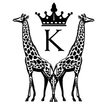 "Monogram Giraffes ""K"" Mix and Match Stamp Design by Three Designing Women"