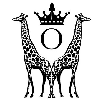 "Monogram Giraffes ""O"" Mix and Match Stamp Design by Three Designing Women"